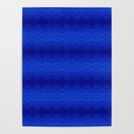 Blue Tiki Pattern Poster