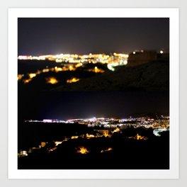 Ibiza by Night Art Print