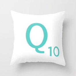 Blue Q Scrabble Art Initial Throw Pillow