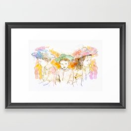 Cowboys and Cowgirls Framed Art Print