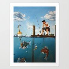 The Activities Below Art Print