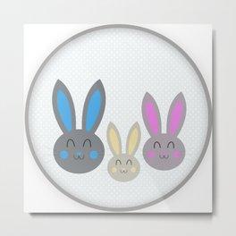 Bunny family Metal Print