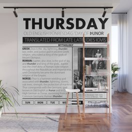 THURSDAY & THE MYTH BEHIND IT Wall Mural