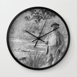 Claude Monet a Giverny Wall Clock