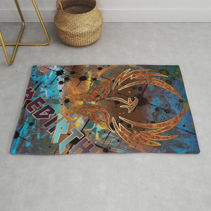 Rebirth Of The Phoenix Rug By