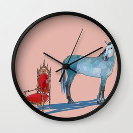 animals with chairs #1 The argument Wall Clock