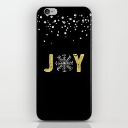 JOY w/White Snowflakes iPhone Skin