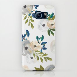 Sweet Blooms - Blue & Cream iPhone Case