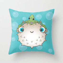 Squid Hat Throw Pillow