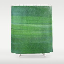 Abstract modern lime forest green stripes pattern Shower Curtain