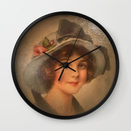 Vintage Lady 02 Wall Clock