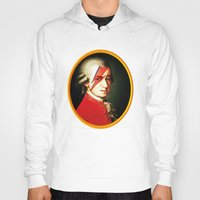 mozart Hoodies featuring Mozart Bowie by rodalume