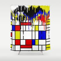 mondrian Shower Curtains featuring MONDRIAN by DIVIDUS