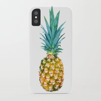 pineapples iPhone & iPod Cases featuring Pineapples by Yilan
