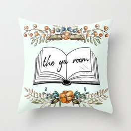 The YA Room (rustic) Throw Pillow