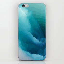 """Inner Calm"" Turquoise Modern Contemporary Abstract iPhone Skin"