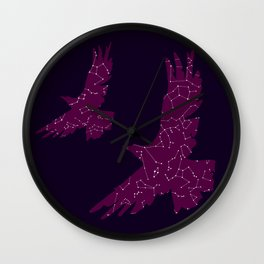 Cosmic Eagle, Purple Galaxy, Constellations Wall Clock