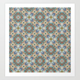 Doodle Tiled Abstract Print Art Print