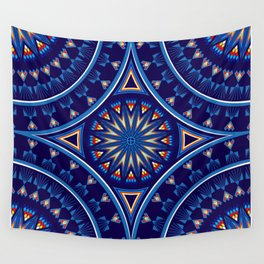 Blue Fire Keepers Wall Tapestry