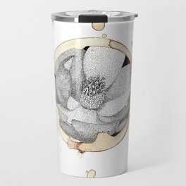 Coffee Stain Magnolia Flower-Louisiana Series Travel Mug