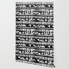Wine Bottles in Black And White #society6 #decor Wallpaper