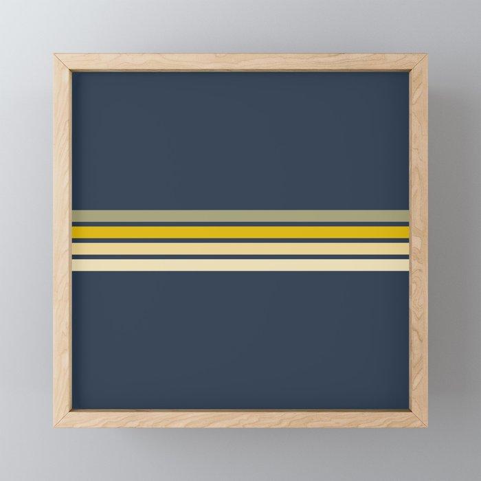 Racing Retro Stripes Framed Mini Art Print