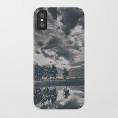 Black and white lake iPhone X Slim Case