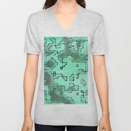 fantasy dungeon maps 7 Unisex V-Neck