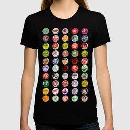 Vintage Soda Pop Bottle Caps T-shirt