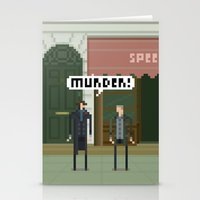 221b Stationery Cards featuring Sherlock 221B by FuliFuli
