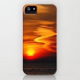 Zig Zag Sunset iPhone Case