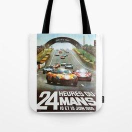 1966 Le Mans poster, Race poster, car poster, garage poster Tote Bag