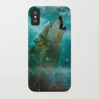 hobbes iPhone & iPod Cases featuring I'll See You In My Dreams (Cry of the Wolf) by soaring anchor designs
