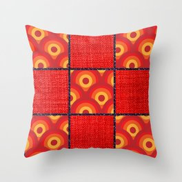 Red Vinyl Print Throw Pillow