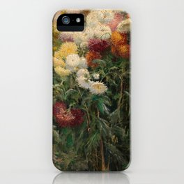 Chrysanthemums by Gustave Caillebotte iPhone Case
