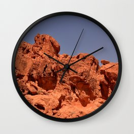 Red Valley III Wall Clock