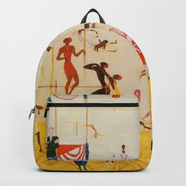 African American Masterpiece 'Summertime, Asbury Park, South' by Florine Stettheimer Backpack