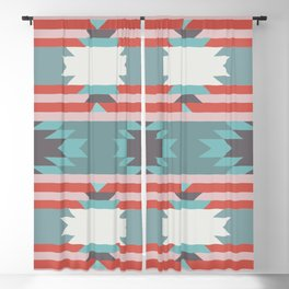 American Native Pattern No. 65 Blackout Curtain