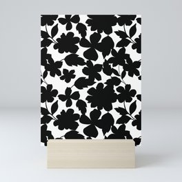 Black and white Blooms Mini Art Print