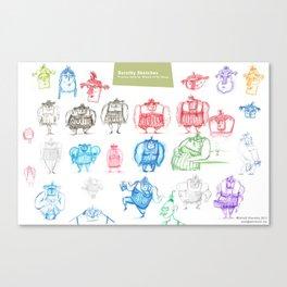 Dorothy Concept Sheet Canvas Print
