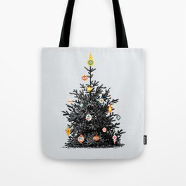 Decorated christmas tree Tote Bag