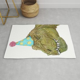 Party Dinosaur in Color Rug