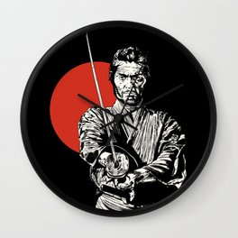 The Samurai Wall Clock