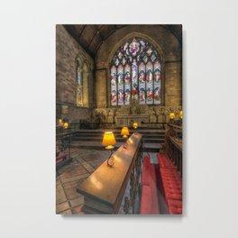 Church Lamps Metal Print
