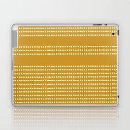 Spotted, Mudcloth, Mustard Yellow, Wall Art Boho Laptop & iPad Skin