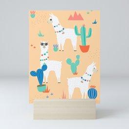 Summer Llamas Mini Art Print