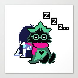 Ralsei and Kris Delta Rune Canvas Print