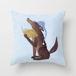 A Dog's Dream Throw Pillow