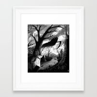 running Framed Art Prints featuring Running by Ichorteeth