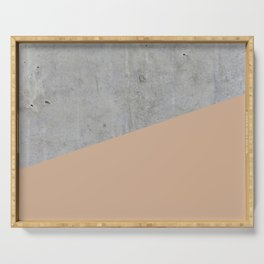 Concrete and Hazelnut Color Serving Tray